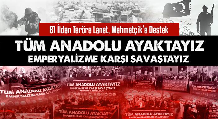 81 İlden Basın Açıklamalarıyla Teröre Lanet, Mehmetçik'e Destek