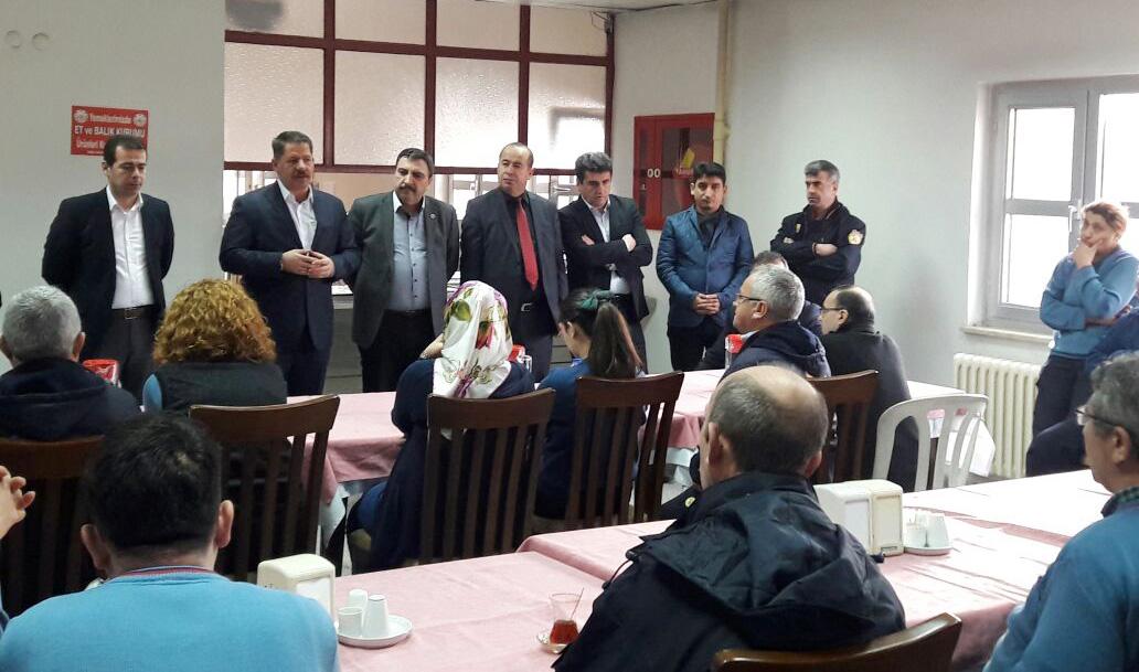 Başkanlarımız Babaharman Dağıtım Merkez Müdürlüğünü Ziyaret Ettiler