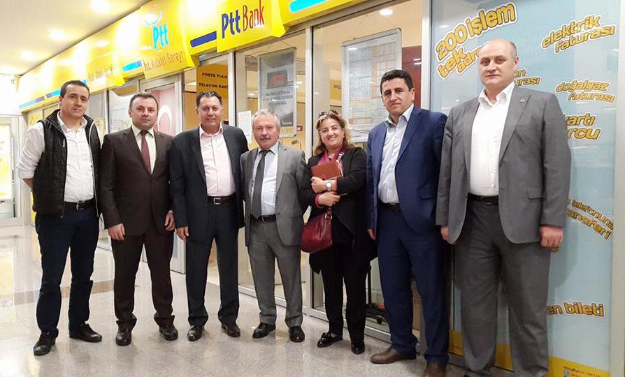 Başkanlarımız İstanbul Avrupa Yakası 15 No' Lu Şubemizi Ziyaret Ettiler