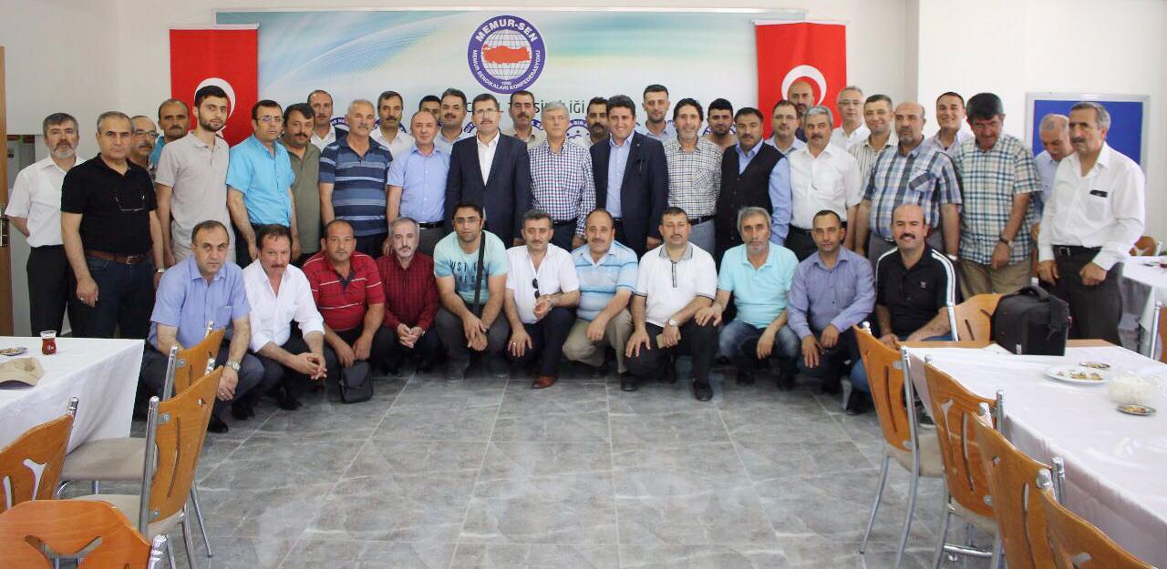 Bekar, Memur-Sen Erzincan'da Bayramlaşma Törenine Katıldı