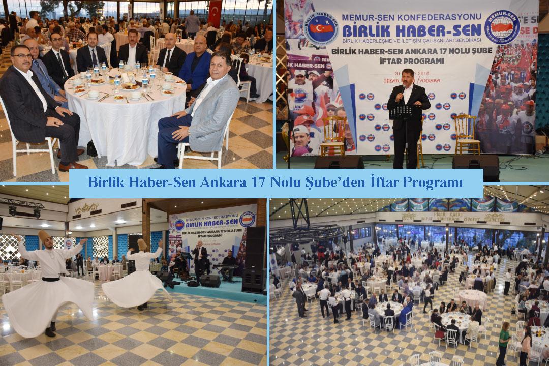 Birlik Haber-Sen Ankara 17 Nolu Şube'den İftar Programı