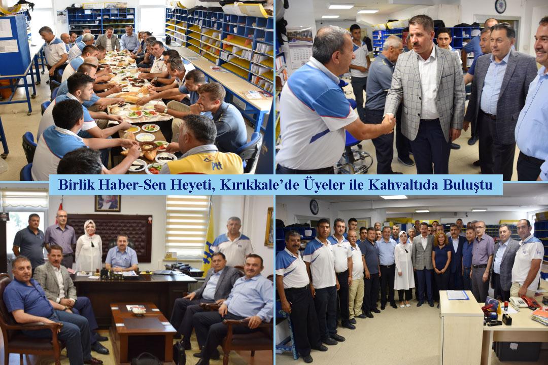 Birlik Haber-Sen Heyeti, Kırıkkale'de Üyeler ile Kahvaltıda Buluştu