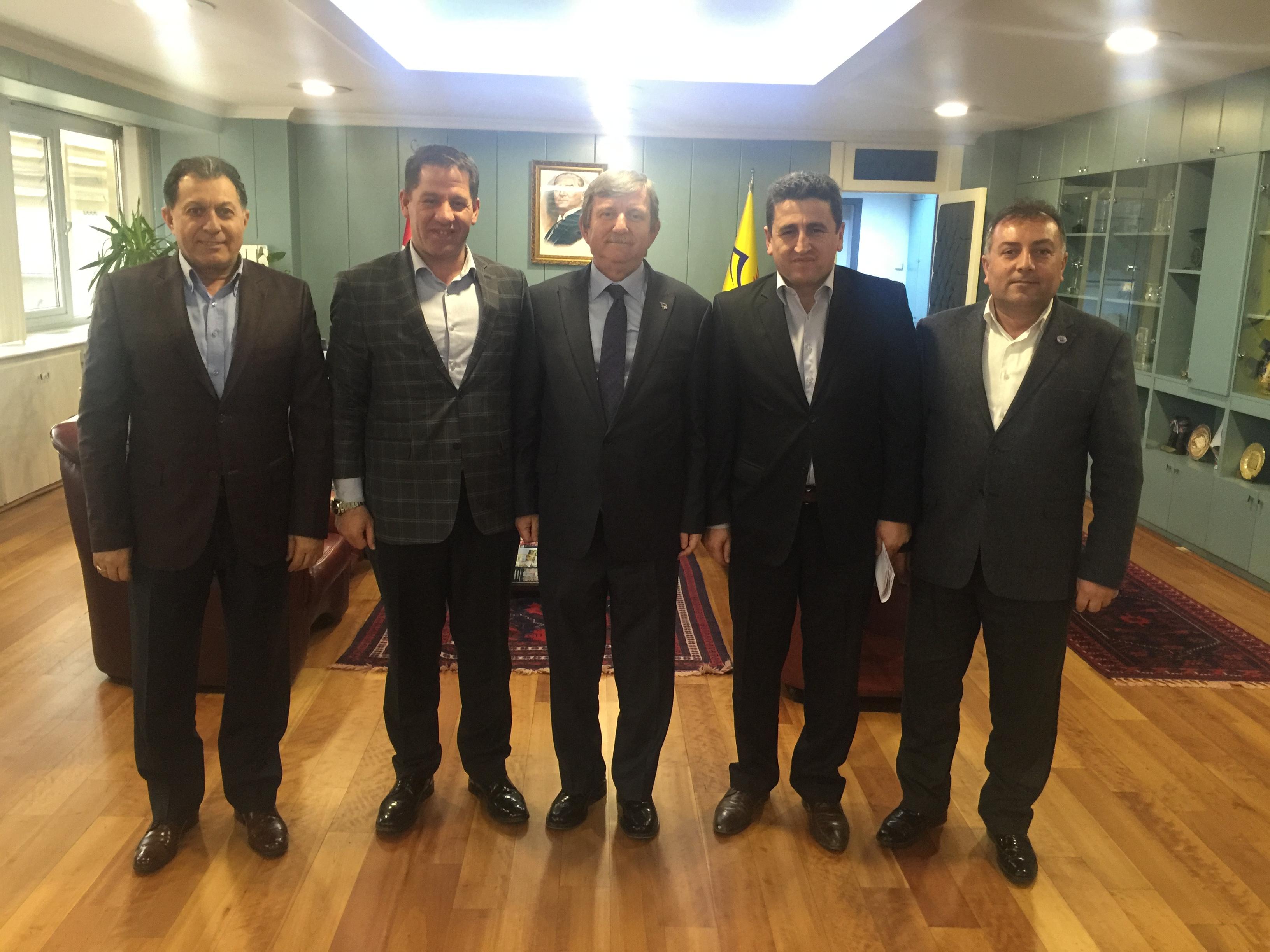 BİRLİK HABER-SEN'DEN PTT A.Ş. GENEL MÜDÜRÜ MADEN'E ZİYARET