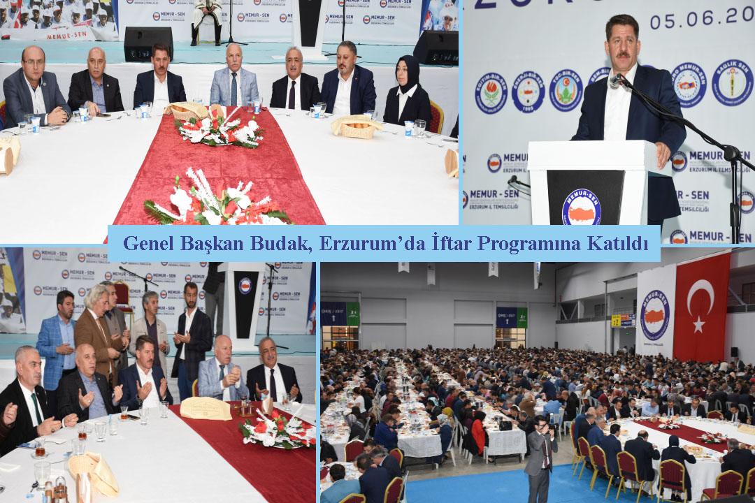 Genel Başkan Budak, Erzurum'da İftar Programına Katıldı