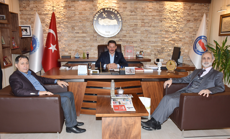 Öz İletişim-İş Sendikası Genel Başkanı Güllüoğlu' ndan Sendikamıza Ziyaret
