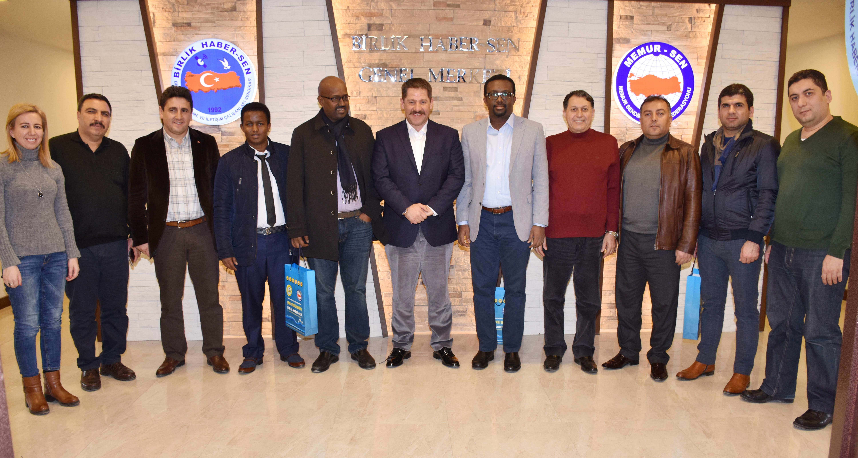 Somali İşçi Sendikaları Federasyonu'ndan Sendikamıza Ziyaret